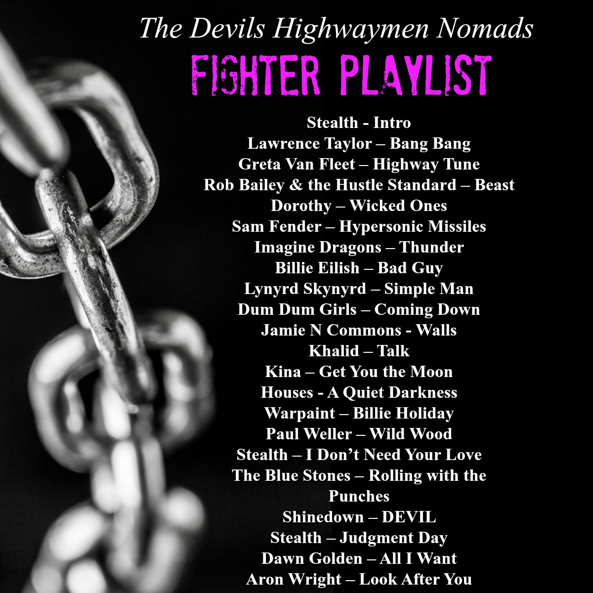 Fighter playlist